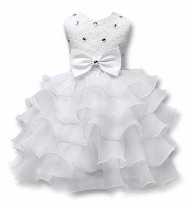 Fairy Frock for girls  in  White - Lil Champs