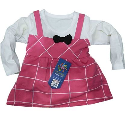 2 Pieces  Pink Frock  Girls-LilChamps Clothing