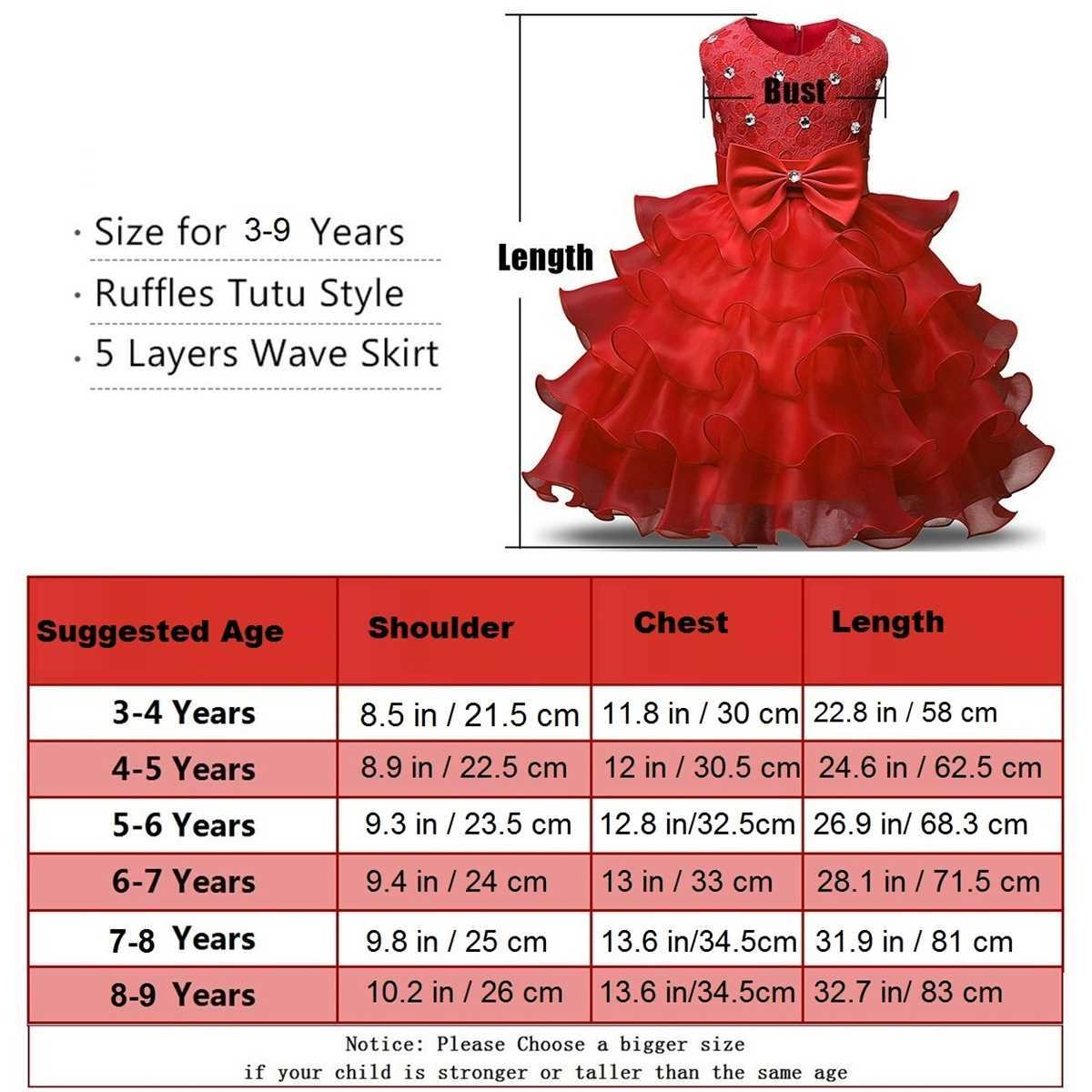 Fairy Frock Red Sizes -LilChamps