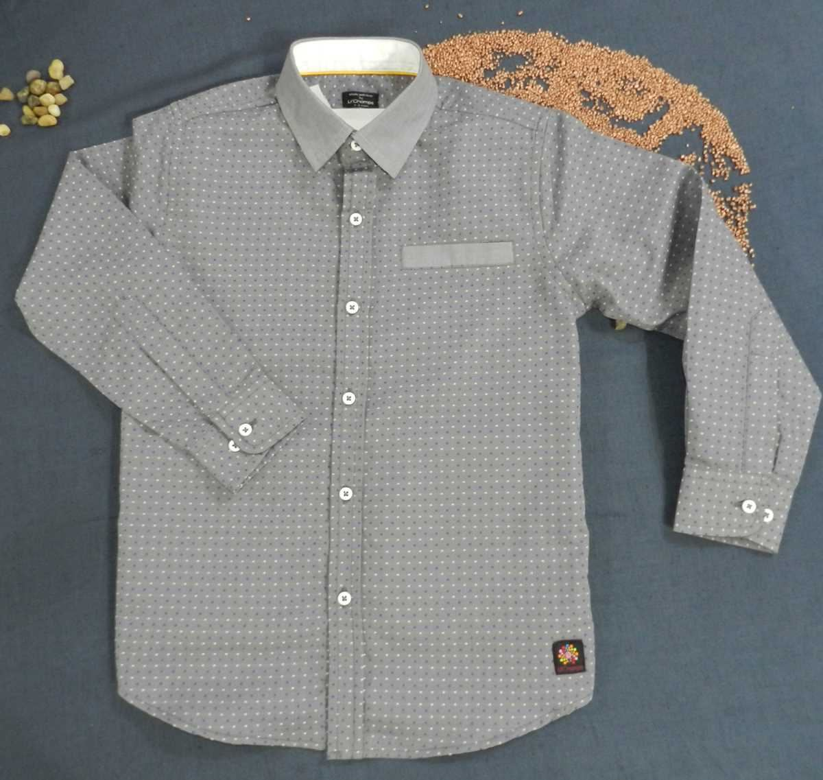 Grey Shirt with Dots for Boys-lilchamps