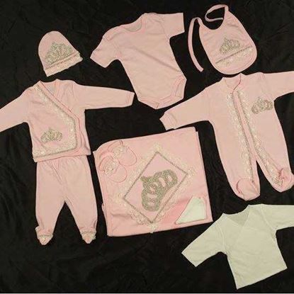 newborn dresses in Pink- baby girl newborn Romper set-Pink-LilChamps