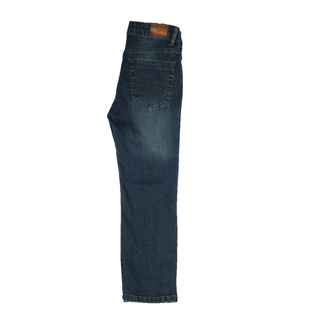 Blue Boys Jeans in Regular Fit with ripping - Denim- lilchamps