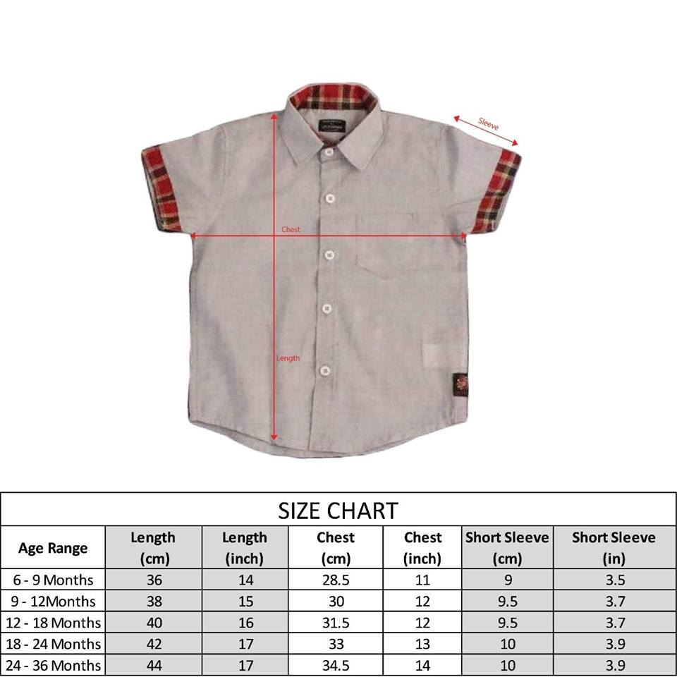 Size Chart-Light Grey Shirt for baby boy-lilchamps