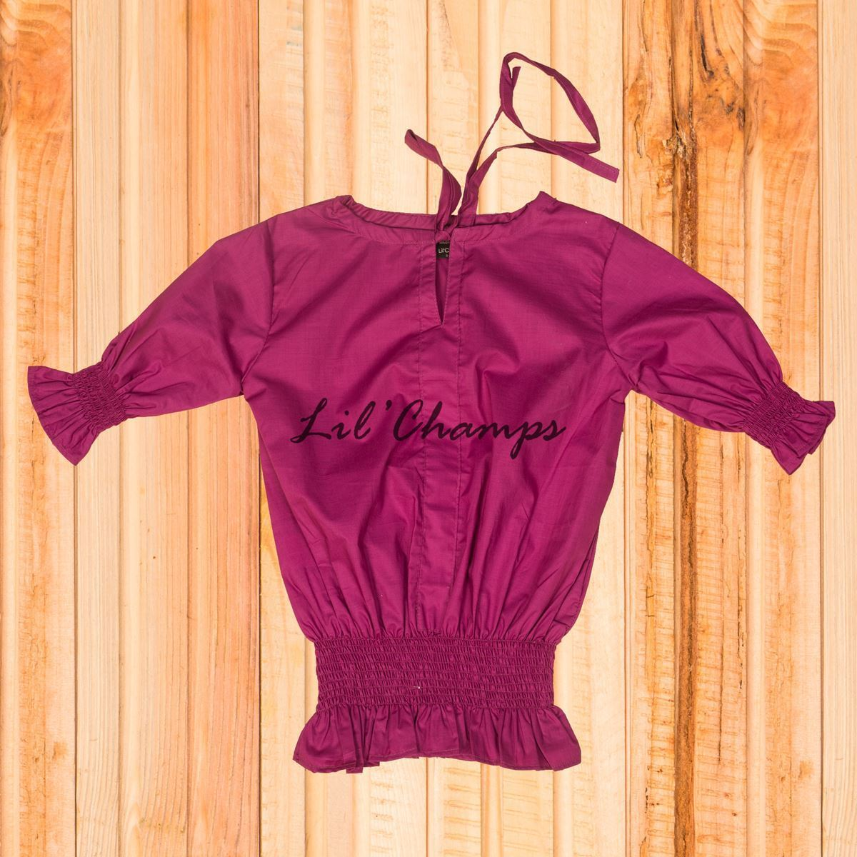Smocking Top - Purple- lilchamps