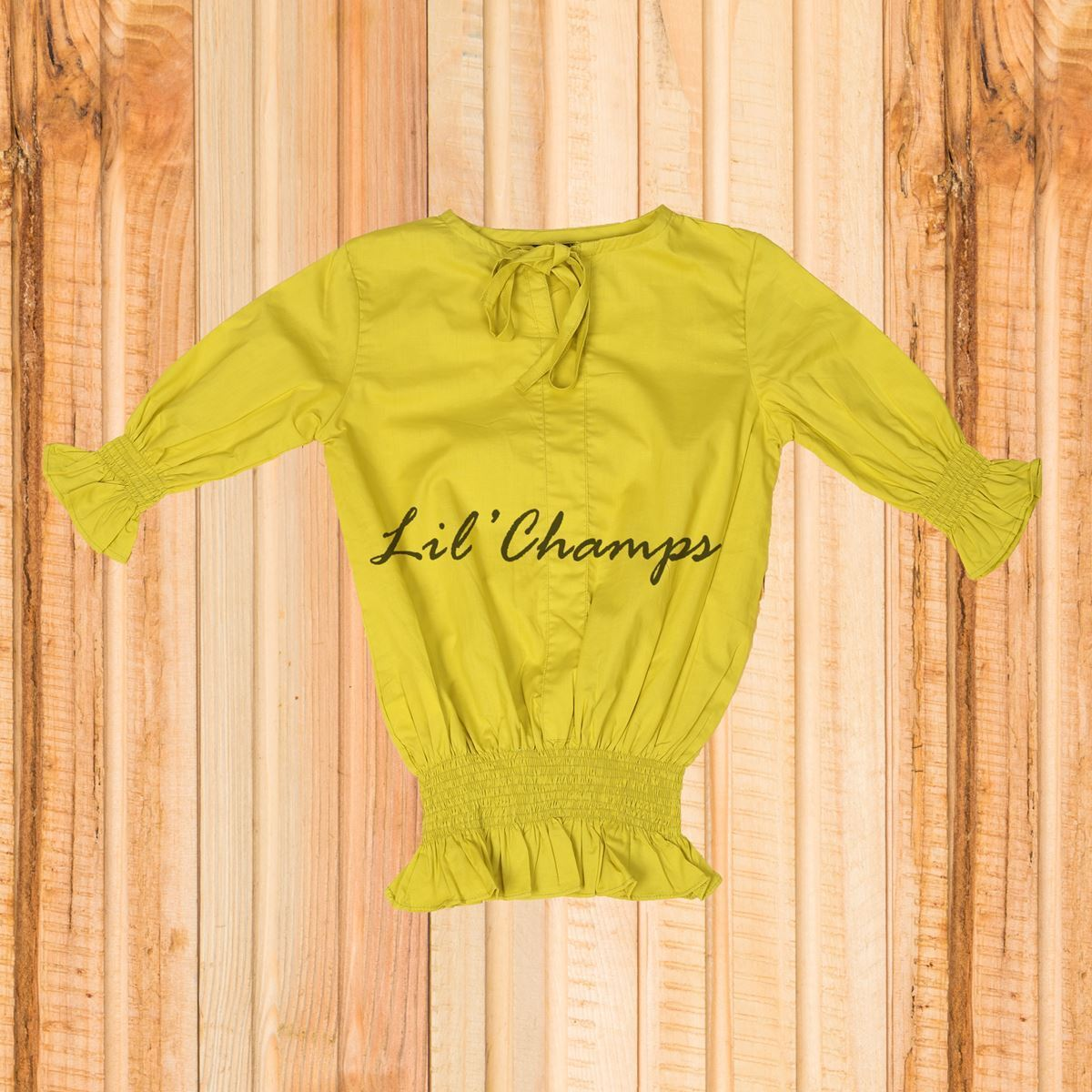 Smocking Top - Lemon Green- lilchamps