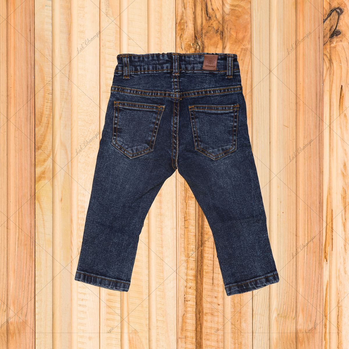 Blue-Denim For Infant Boys-Lilchamps