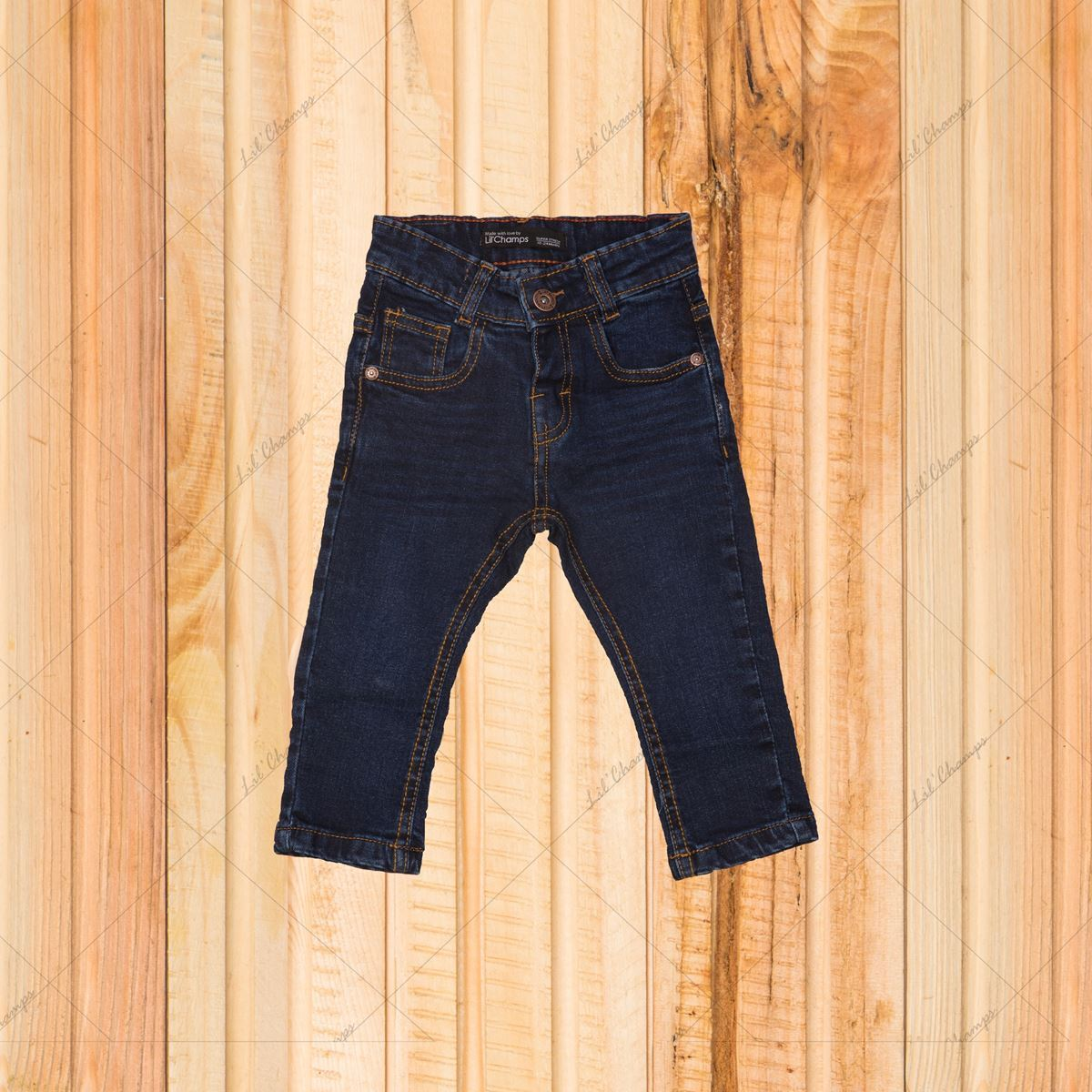 Dark Blue-Denim For Infant Boys-Lilchamps