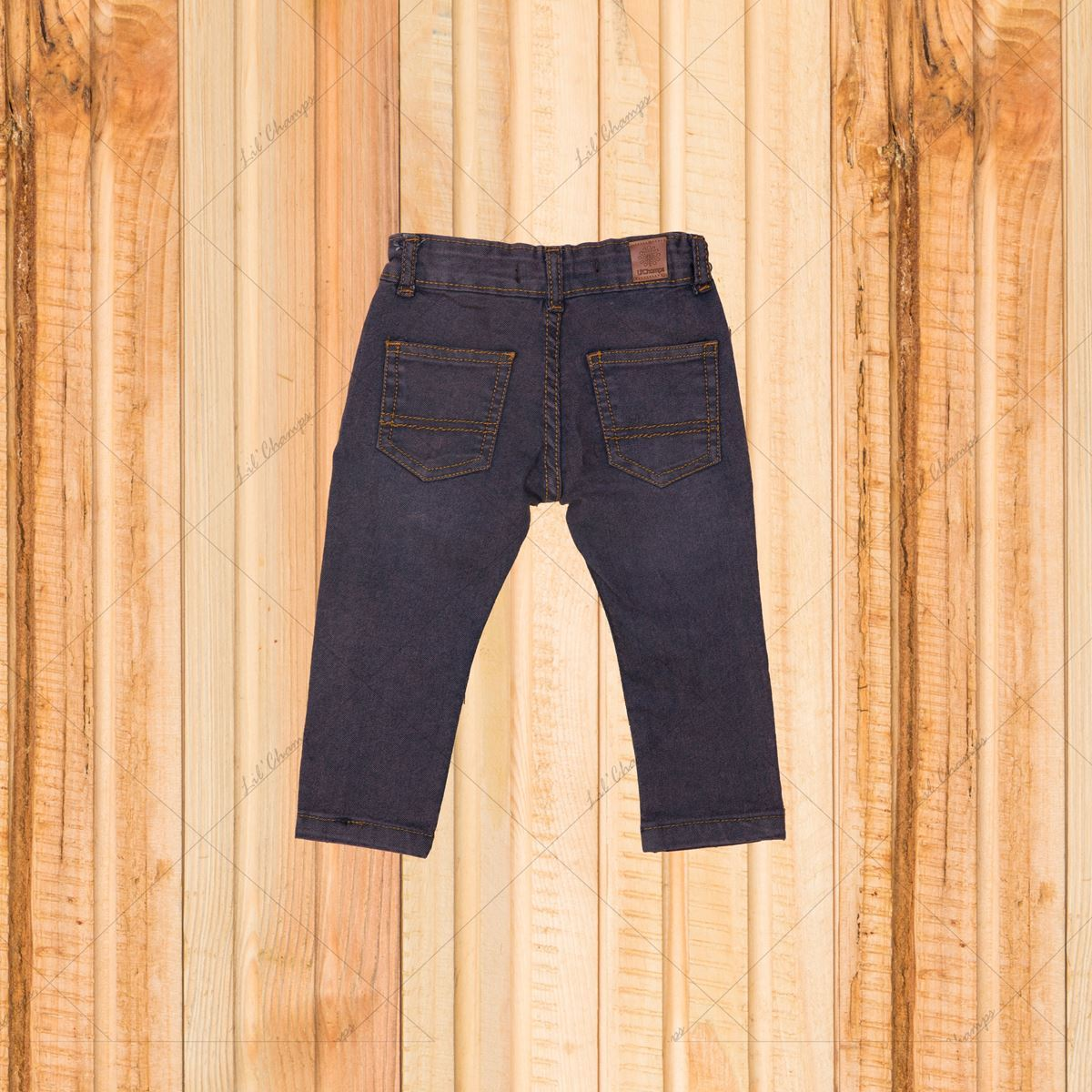 Dark wash-Denim For Infant Boys-Lilchamps