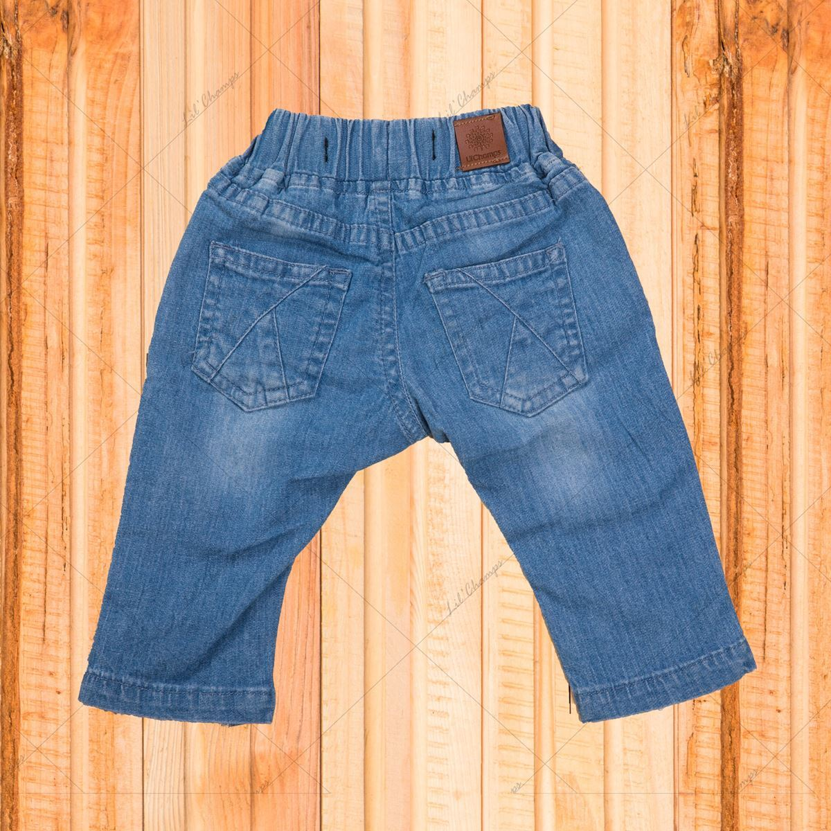 Girls denim with lace work-lilchamps