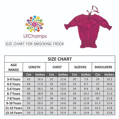 Size Chart-Smocking Top - lilchamps
