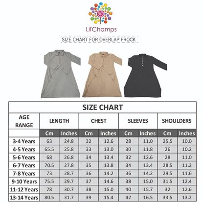 Size Chart -Overlap Style Top-lilchamps