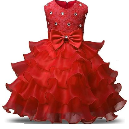 Fairy Red frock for girls by lilchamps