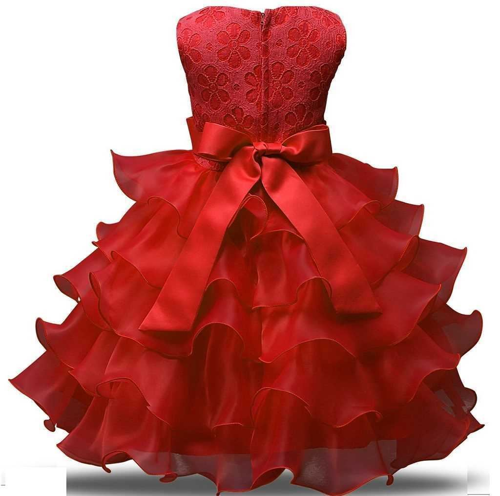 Fairy Red frock for girls by lilchamps - Back