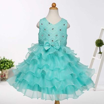 Fairy Seagreen frock for girls by lilchamps - Front