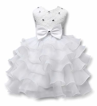 Fairy White frock for girls by lilchamps - Front