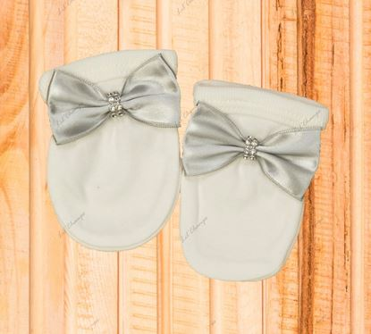 Mittens-3PCS Grey and White Romper set for Baby Boys-LilChamps