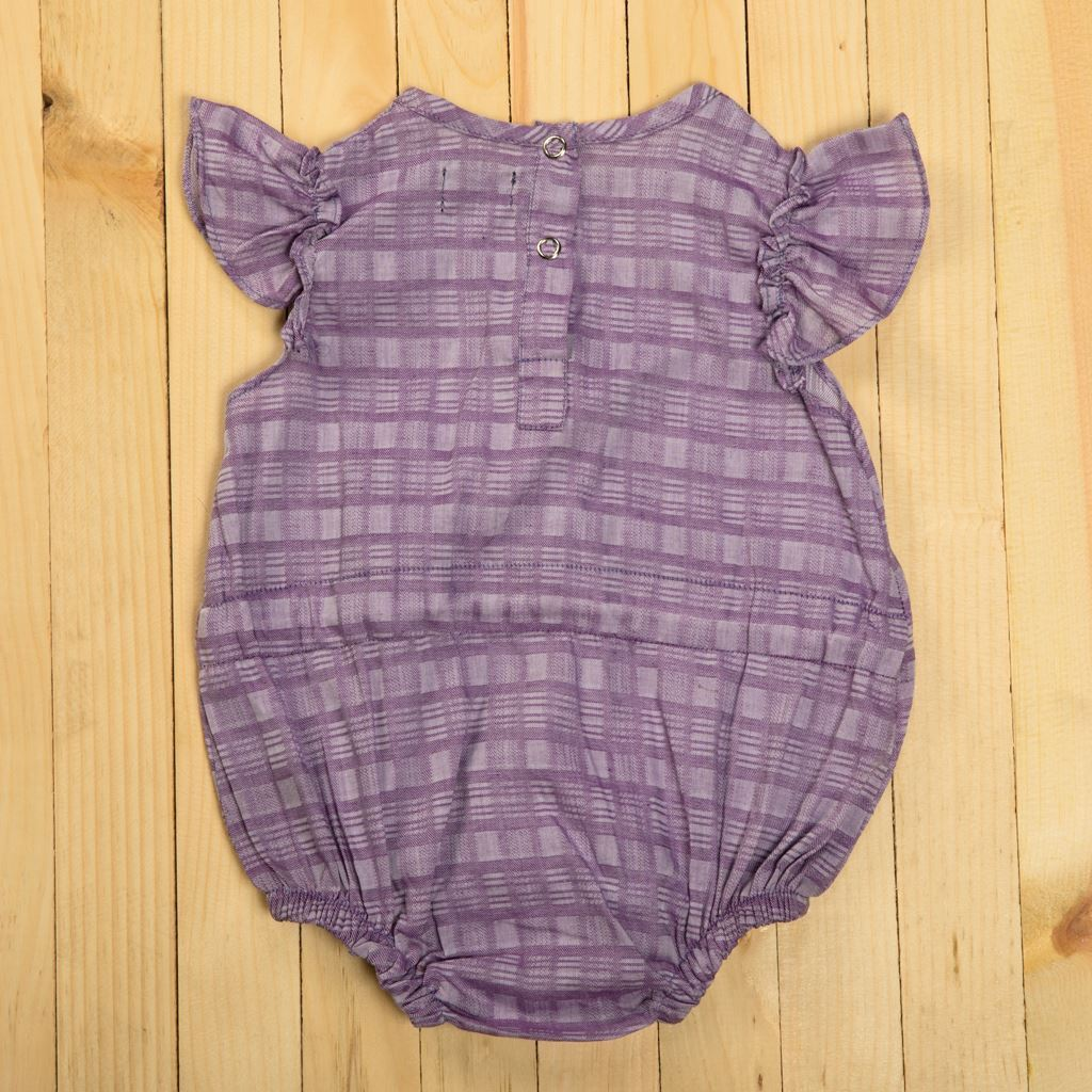 Purple Baby Romper With Short Sleeves-Lilchamps