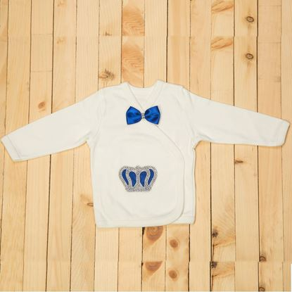 10 Pieces Royal Blue & White Prince Set For Baby Boys-lilchamps
