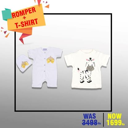 2 Pieces Romper Set + T-Shirt - LilChamps