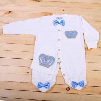 2pcs Light Blue & white Set for Boys- lil'champs