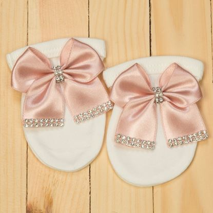 Mittens-3 piece pink and white romper set for Girls- LilChamps