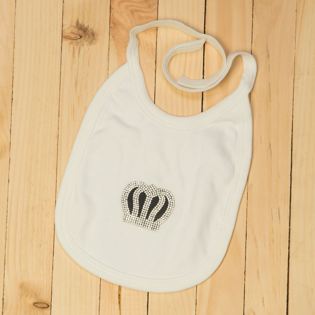 Bib - 4 Pieces Black and White set for Baby Boys- Lil'Champs