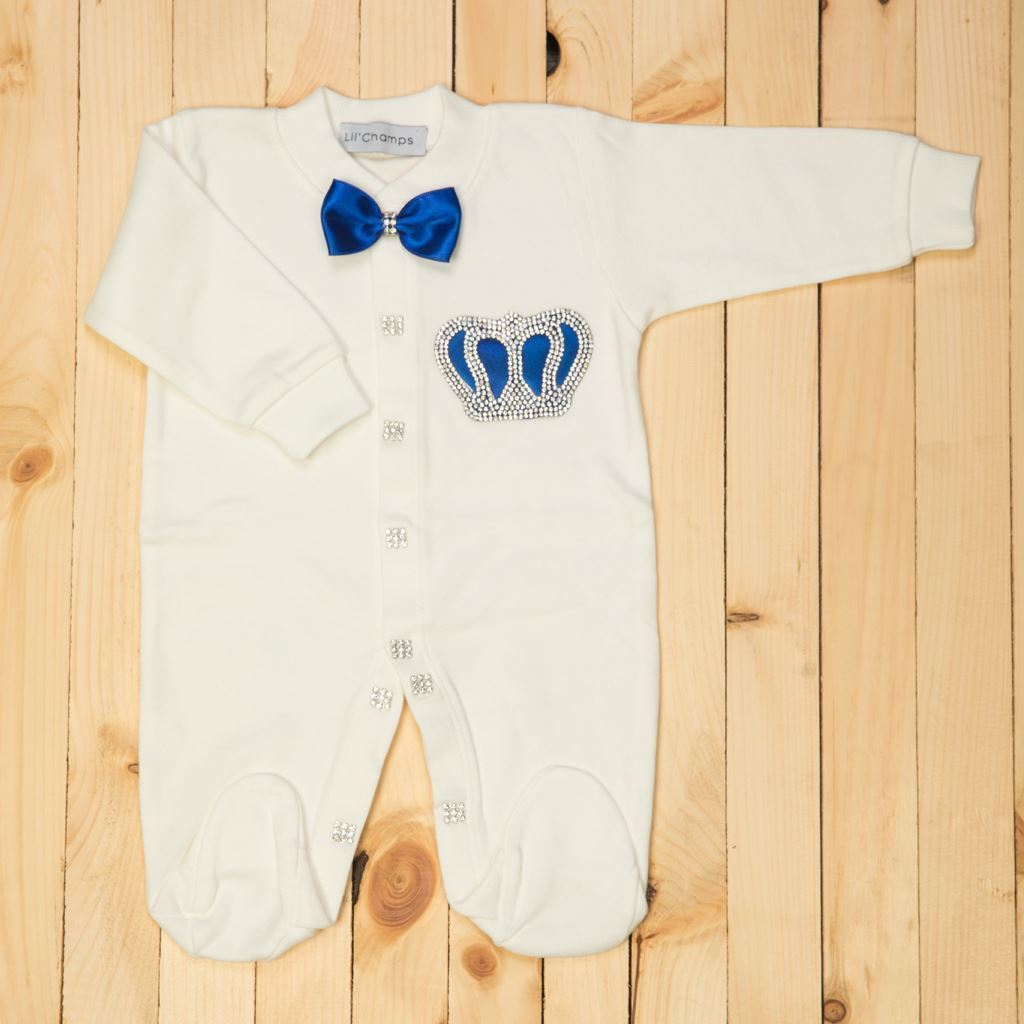 4 Pieces Royal Blue and White set for Baby Boys-Lilchamps