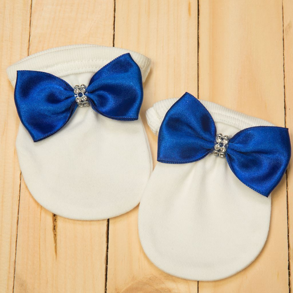Mittens - 4 Pieces Royal Blue and White set for Baby Boys-Lilchamps