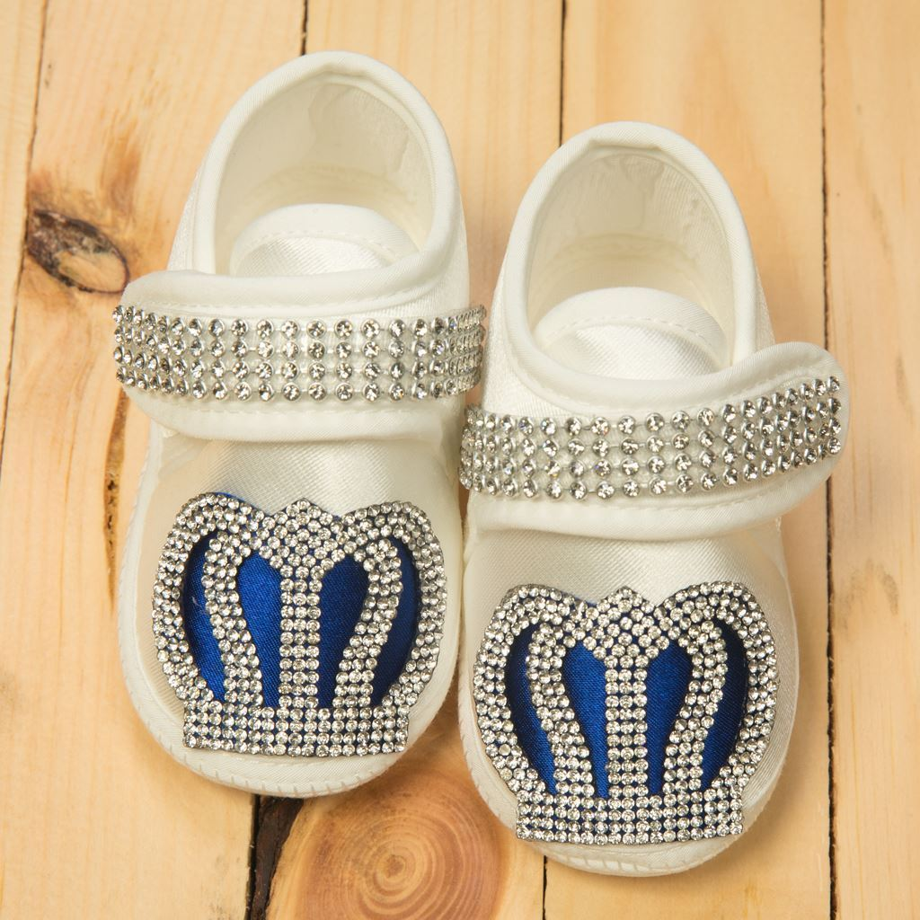 Shoes - 4 Pieces Royal Blue and White set for Baby Boys-Lilchamps