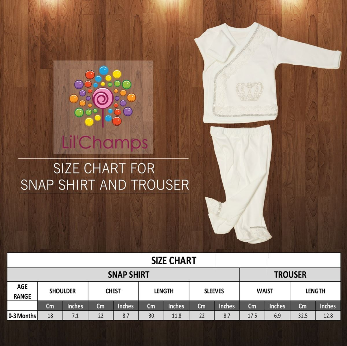 Size Chart - Shirt & Trouser For boys - Lilchamps