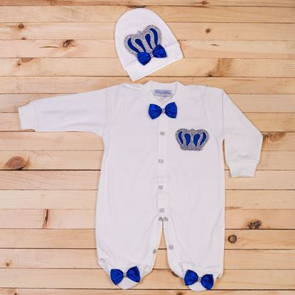 2pcs Royal blue & white Set for Boys- lil'champs