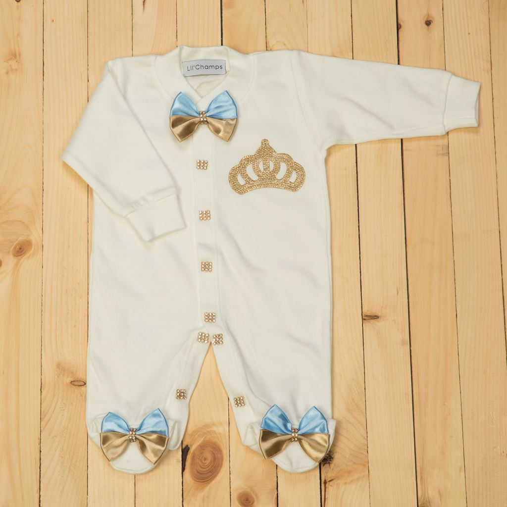 2 pieces Two Tone and White Romper Set for Baby Girls-lilchamps