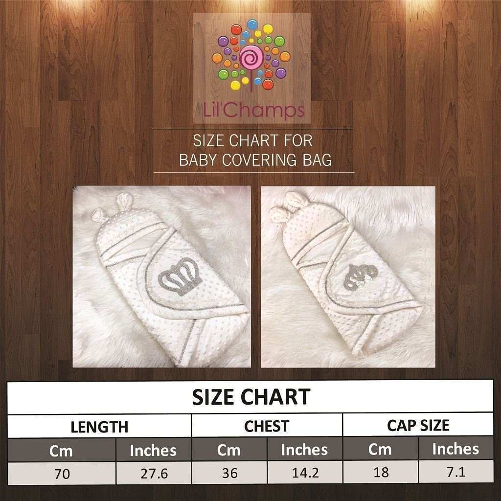 Size Chart- Baby Nest/Sleeping Bag-lilchamps