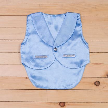 Waist Coat Light Blue - Lil Champs