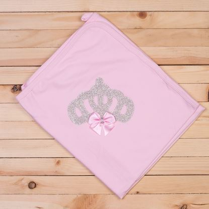 Pink-Wrapping Sheet/ Baby Blanket Newborn baby Girl- LilChamps