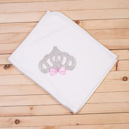 White & Pink-Wrapping Sheet/ Baby Blanket Newborn baby Girl- LilChamps