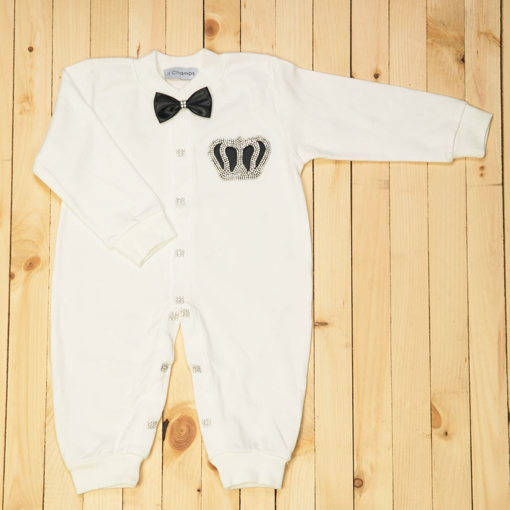 Romper - 4 Pieces Black and White set for Baby Boys- Lil'Champs