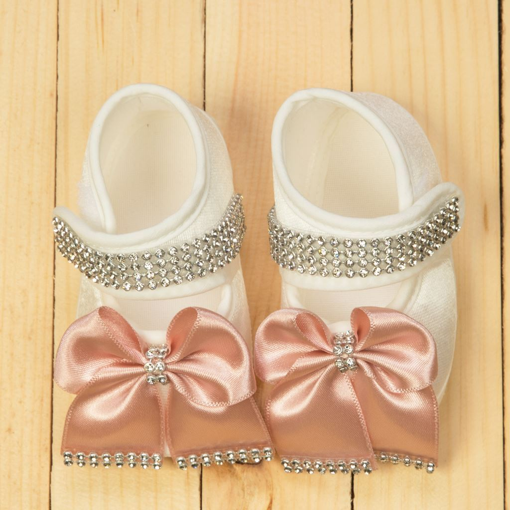 Shoes - 4 pieces White & Tea Pink Set for girls- lil'champs