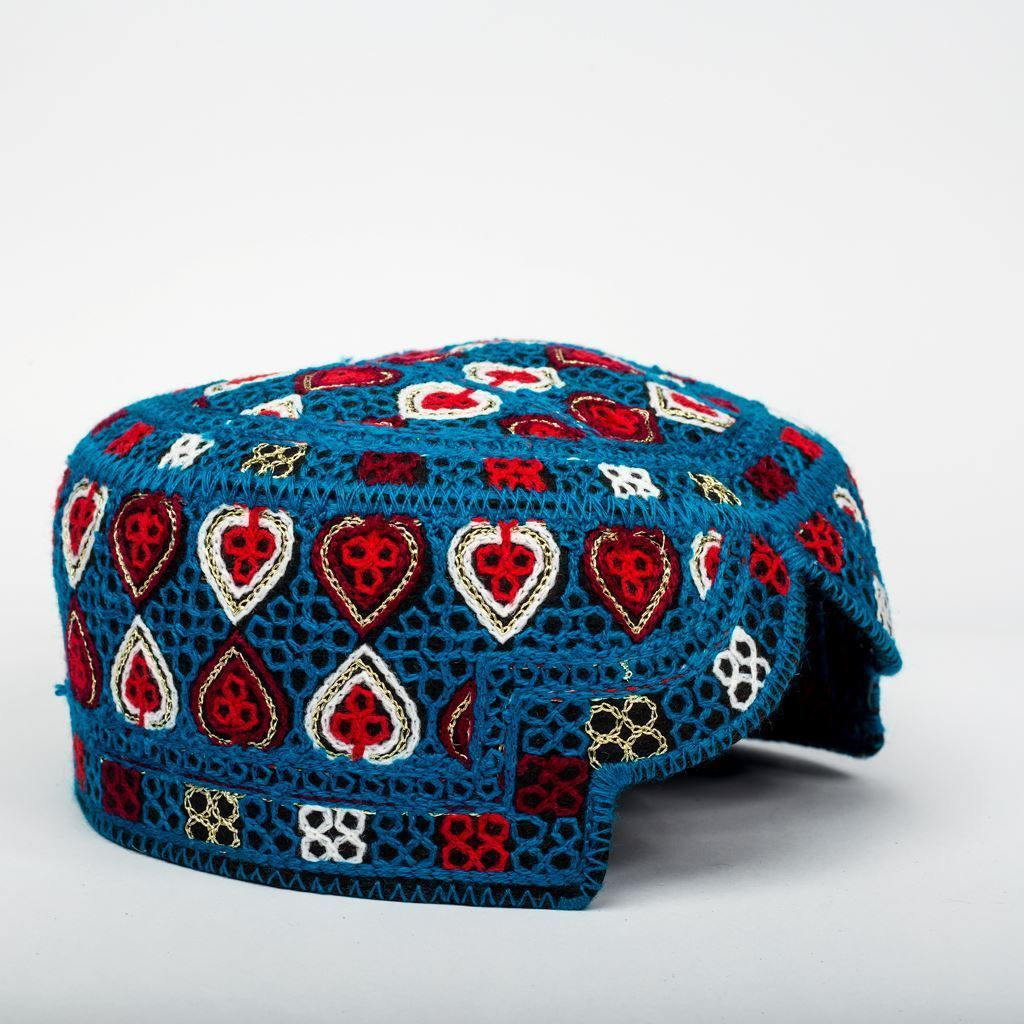 Blue Multi - Hand Made Sindhi Caps-Lilchamps