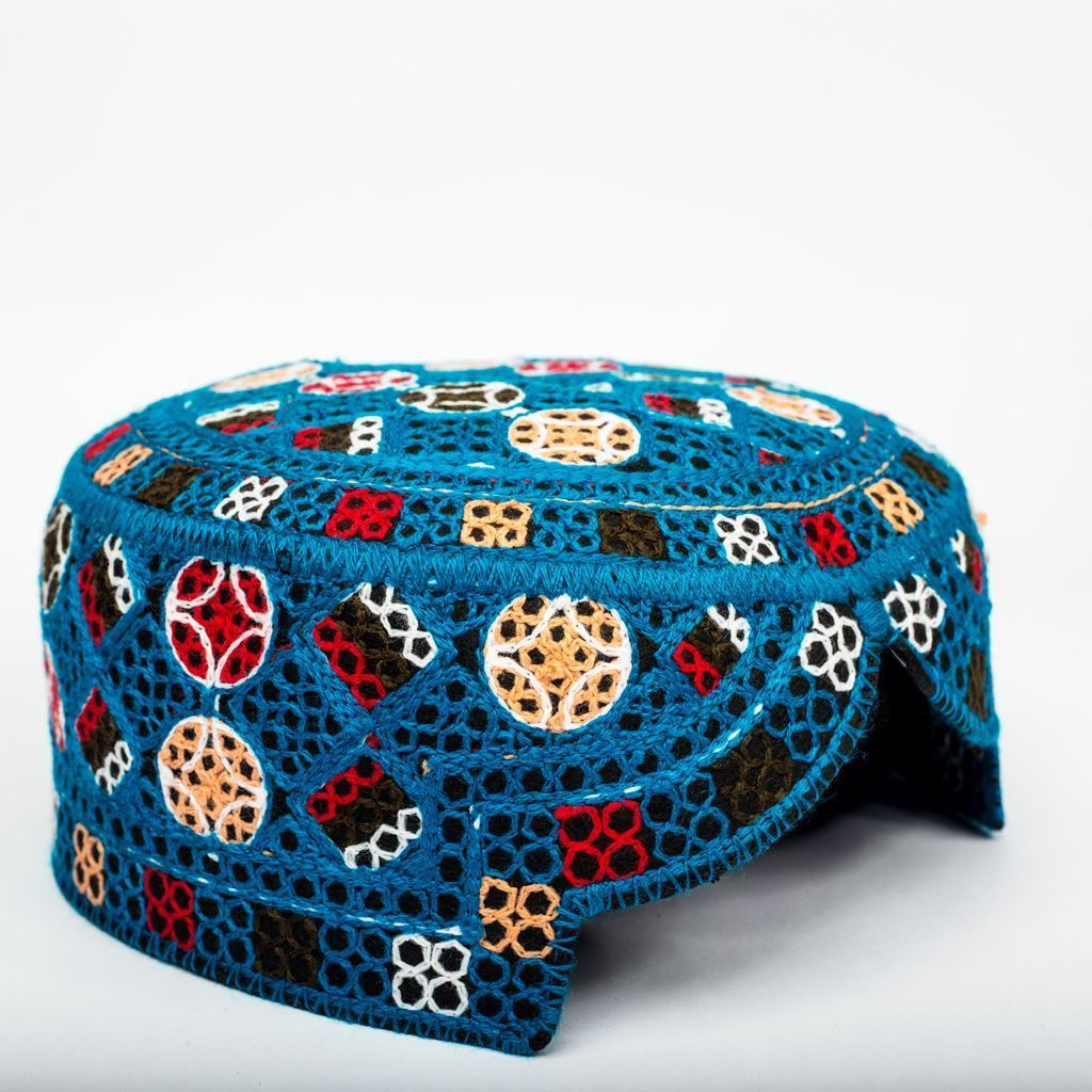 Blue black - Hand Made Sindhi Caps-Lilchamps
