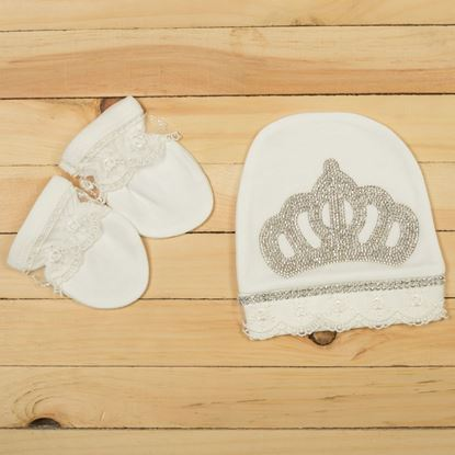 3pcs White Luxury Set For New Born Baby Girls-LilChamps