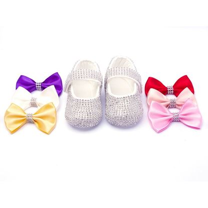 Infant Silver Fancy Shoes for Baby Girls-lilchamps
