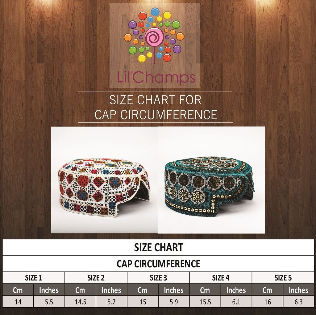 Size Chart - Hand Made Sindhi Caps-Lilchamps