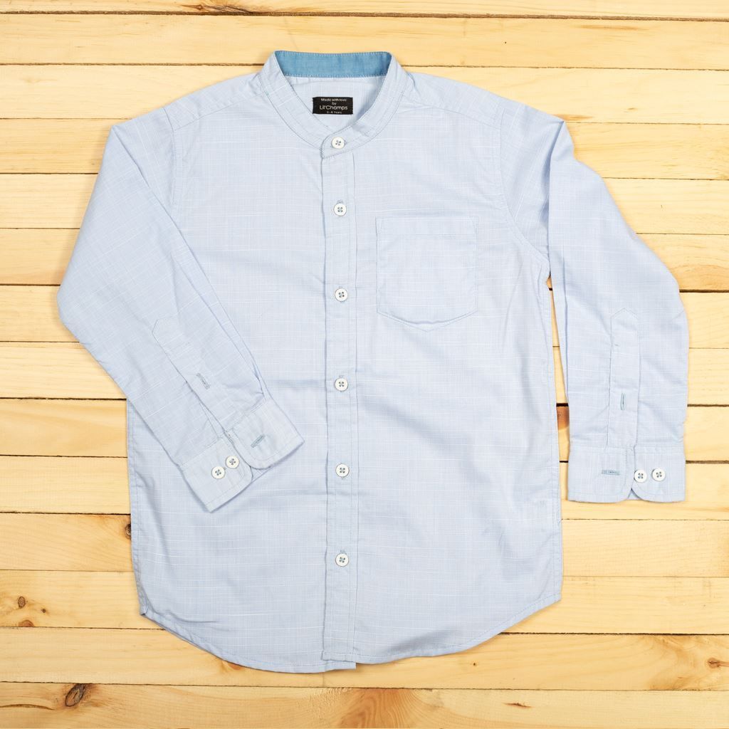Picture of SKY Blue Textured Shirt For Boys