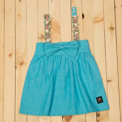 Sky Blue Spaghetti Strap Top for baby girls-Cotton