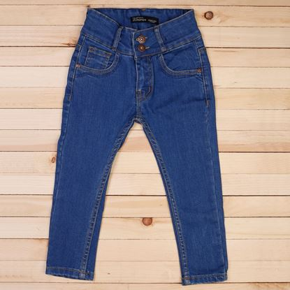 Medium Blue -Girls Stylish Jeans in Regular Fit-Lilchamps