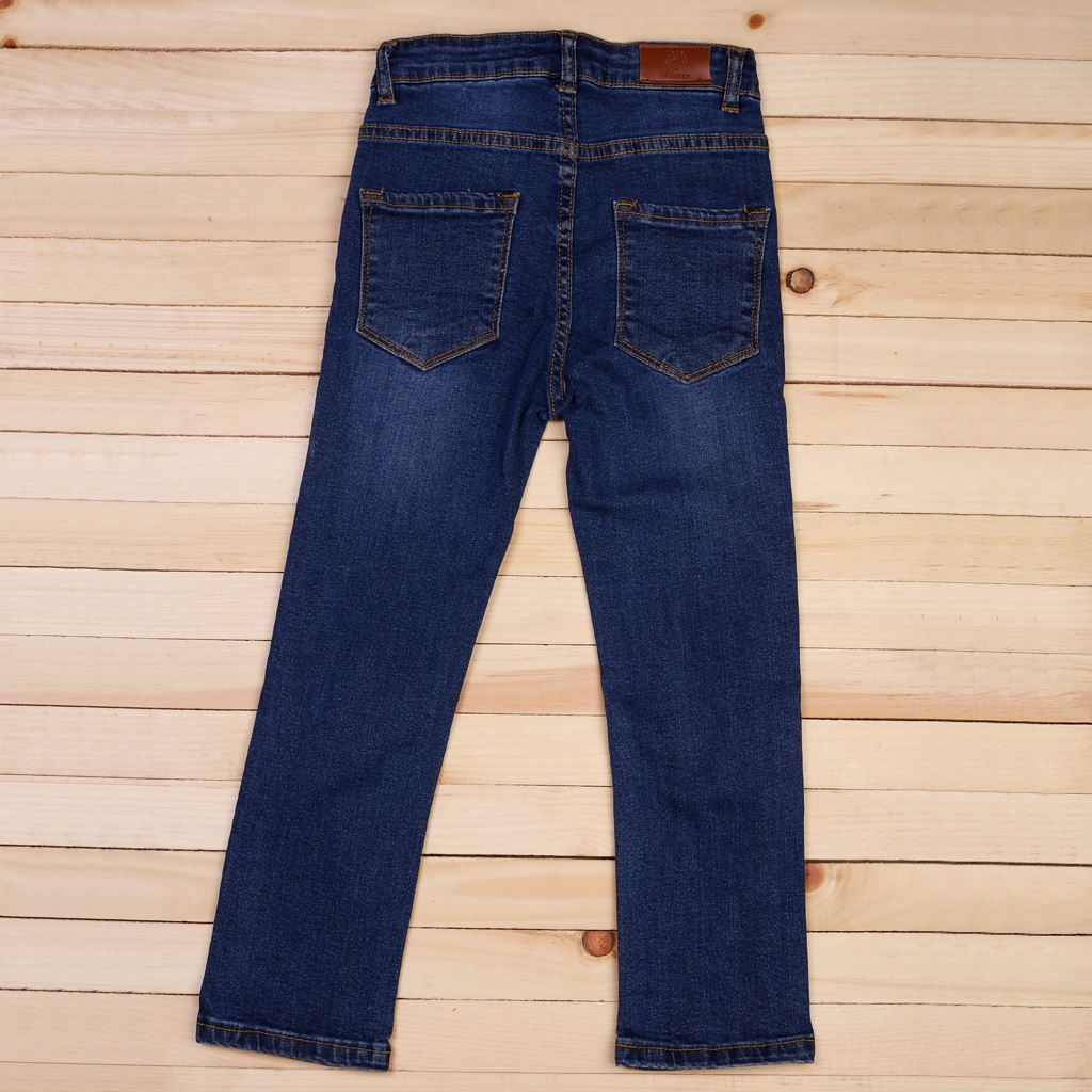 Medium Blue - Boys Jeans in Regular Fit - Denim- lilchamps