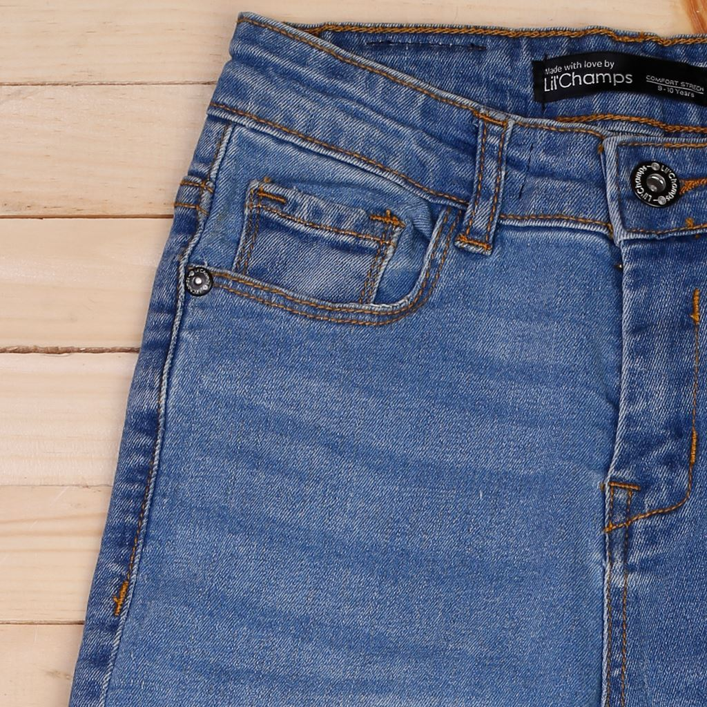 Light Blue - Boys Jeans in Regular Fit - Denim- lilchamps