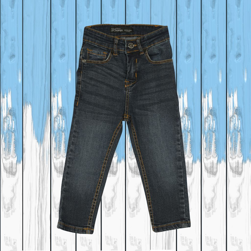 Dark Blue - Boys Jeans in Regular Fit - Denim- lilchamps