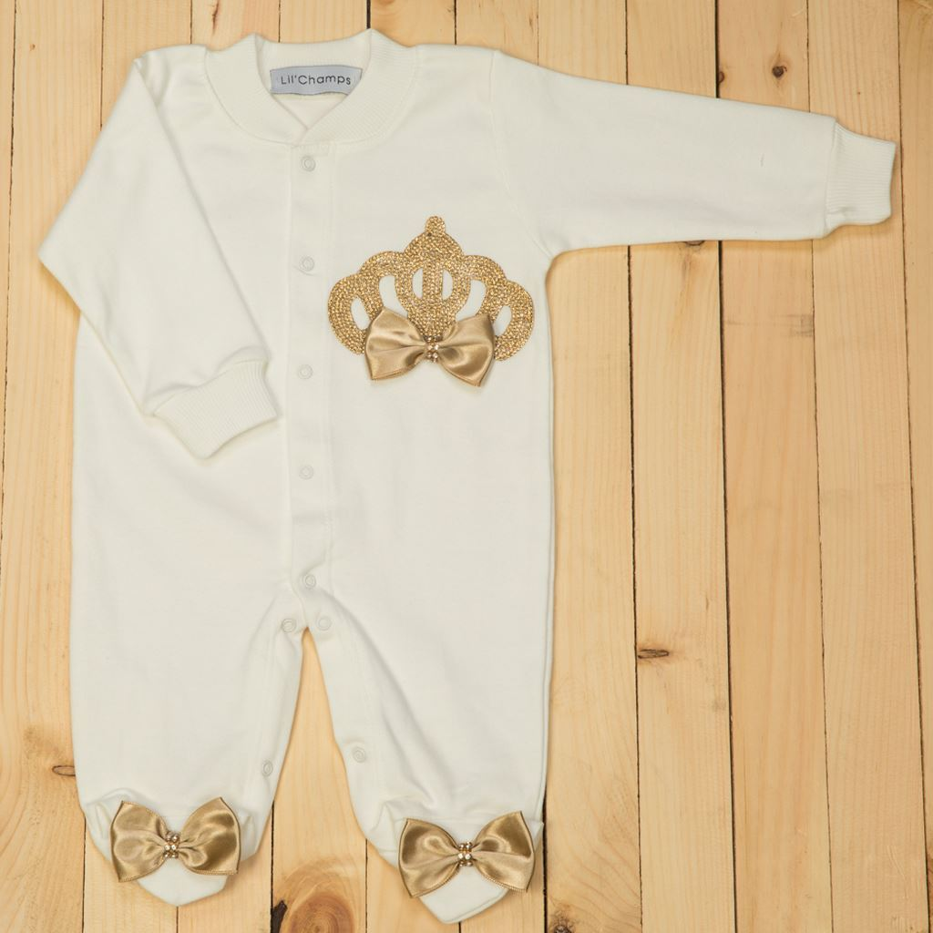 Romper - 3pcs Golden Romper Set for Baby Girls -lilchamps